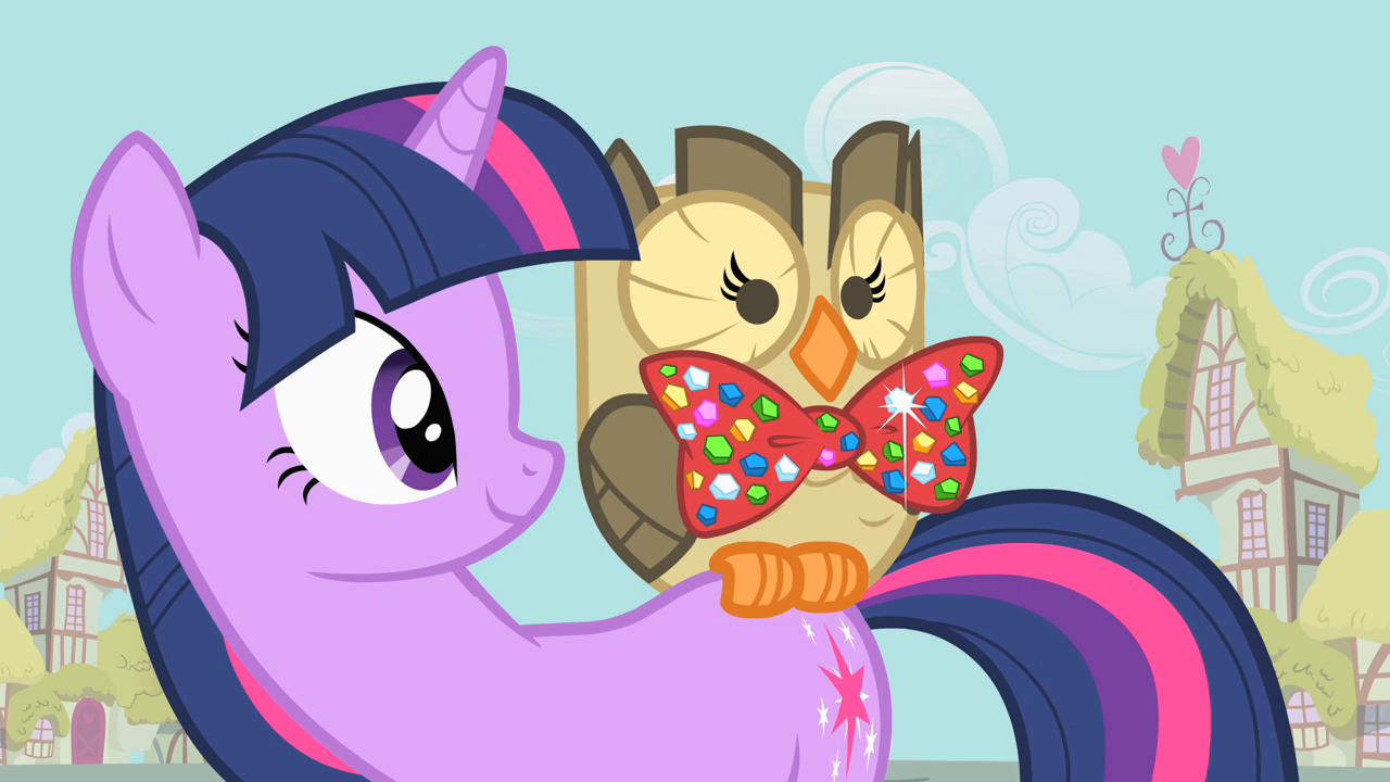 Owlowiscious wearing bow tie S1E24