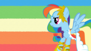 Rainbow dash at the gala by shelltoontv-d3g75wp