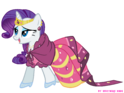 Rarity in gala dress by nightmaremoons-d3ktw44