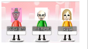 Guru Ant, Dave Ramsey, and Kate in Wii Party