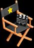 Decoration directors chair