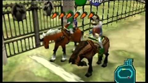Legend of Zelda Ocarina of Time Getting Epona