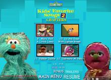 Sesame Street Kids Favorite Song 2 DVD Chapters3