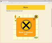 Moby's Maze Choosing a Book 7