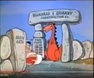 The Flintstones Intro 2 Sound Ideas, SKID, AUTO - AUTO PULL UP AND SKID TO STOP, TIRE,