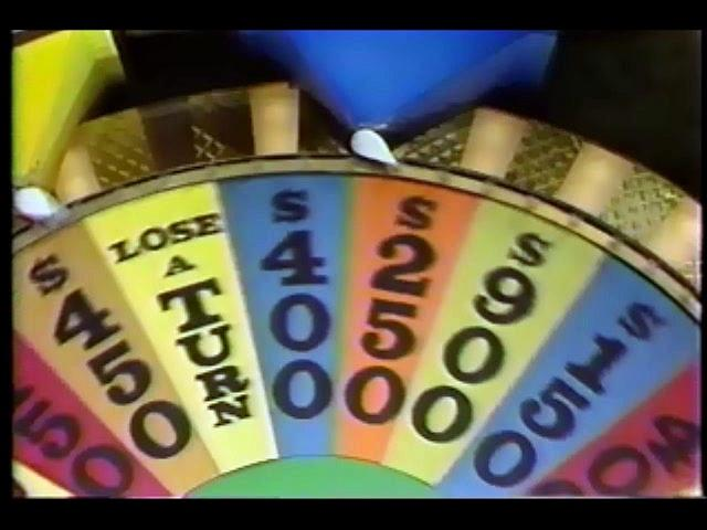 Wheel of Fortune- April 15, 1986 (Brad Cornelia Pam)