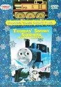 Thomas'SnowySurpriseDVDwithWoodenGoldThomas