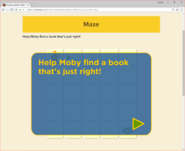 Moby's Maze Choosing a Book 1