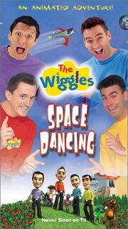 The Wiggles Space Dancing! VHS Cover