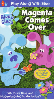 Blue's Clues Magenta Comes Over VHS Cover