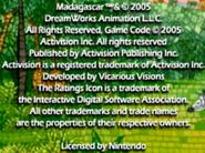Madagasacar(GameBoy)Copyright
