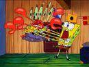 Spongebob Shaking Mr. Krabs