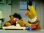 Ernie cuts onions which makes him cry