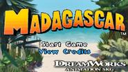 Madagasacar(GameBoy)Menu