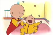 Caillou pinches Rosie