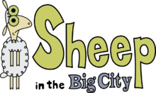 Sheep in the big city title card