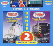 ThomasGetsBumpedandTrustThomasDVD2-packwithWoodenRailwayFergusandRickety