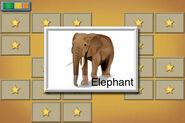 Preschool Memory Match elephant