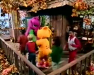 Barney's Sense-Sational Day Sound Ideas, TRAIN, STEAM - WHISTLE, MANY BLASTS, CLOSE UP