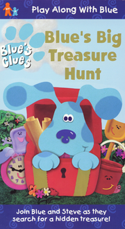 Blue's Clues Blue's Big Treasure Hunt VHS Cover