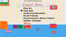 Baby Newton DVD Menu Puppets Shows