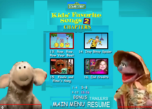 Sesame Street Kids Favorite Song 2 DVD Chapters4