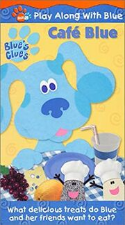 Blue's Clues Cafe Blue VHS Cover