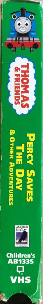 Percy Saves the Day VHS spine