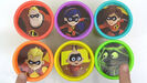 Toys Unlimited Learning Colors with THE INCREDIBLES 2 Movie Characters Play-Doh Lid TOY SCHOOL Hollywoodedge, Twangy Boings 7 Type CRT015901