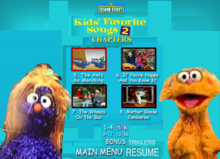 Sesame Street Kids Favorite Song 2 DVD Chapters2