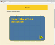 Moby's Maze Writing a Paragraph 1