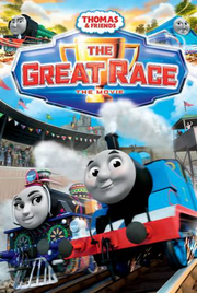 Thomas and friends the great race dvd cover