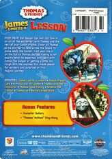 JamesLearnsaLesson2009DVDbackcover
