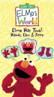 Elmo's World Elmo Has Two! Hands, Ears & Feet VHS Cover