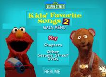 Sesame Street Kids Favorite Song 2 DVD Main Menu