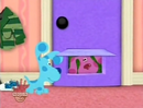 Blue's Clues Magenta Comes Over Sound Ideas, DOOR, WOOD- OPEN 02 (H-B)