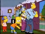 The Simpsons Travis Powers Wood Break