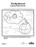 Grover's Story Circle Printable 1