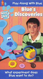 Blue's Clues Blue's Discoveries VHS Cover