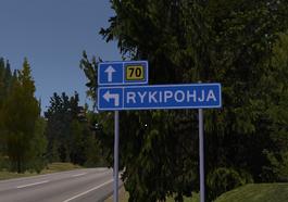 Rykipohja entrance sign