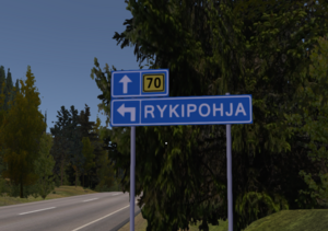 Rykipohja entrance sign