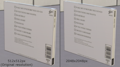 CD case resolution difference