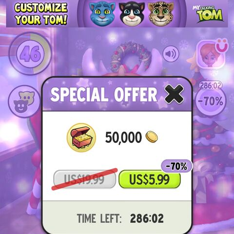 Special Offer: 50,000 coins