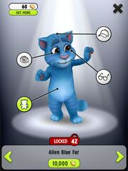 Image alien blue fur
