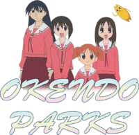 Okendo Parks Logo with Trademark Characters