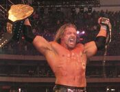 HHH after winning the WWE Undisputed Championship
