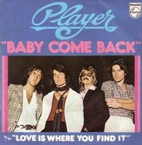 Player Baby Come Back cover