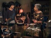 Grandma brewing a potion