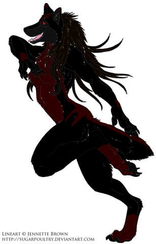 File:Free Female Werewolf Lineart by sugarpoultry.png