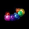 Clothes Icon Rainbow Ball Bracelet